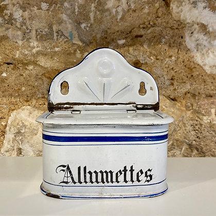 Vintage - Boite émaillée Allumettes