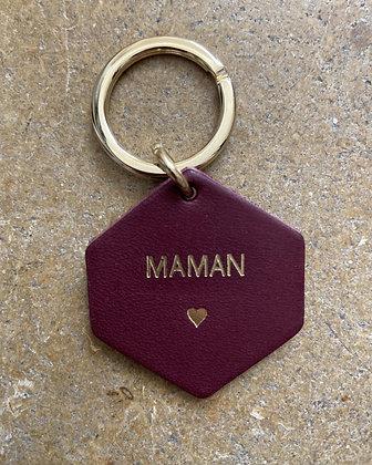 FAUVETTE - Porte-clés prune MAMAN