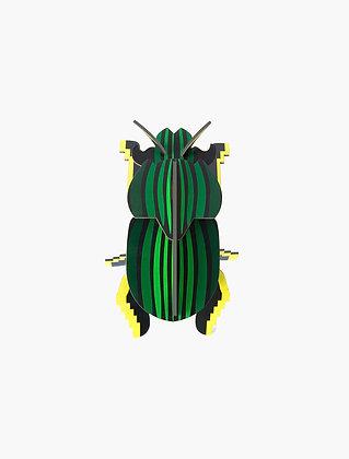 Insecte 3D à construire - Scarabée vert