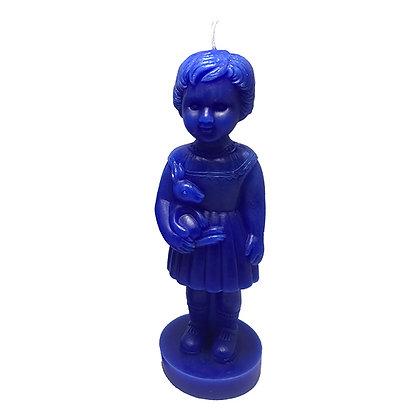 Grande bougie Clonette bleue