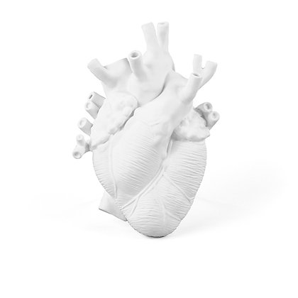 Seletti - Vase coeur blanc