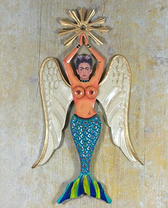 Grande Frida ailée bleue