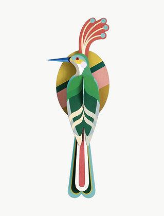 Oiseau 3D à construire - Oiseau vert