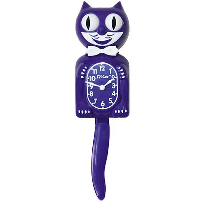 Kit-Cat Clock Violet - Horloge Chat Violet