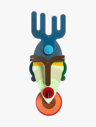 Masque 3D à construire - Dakar