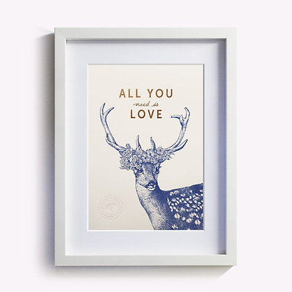 ÉDITION DU PAON - Affiche All you need is love