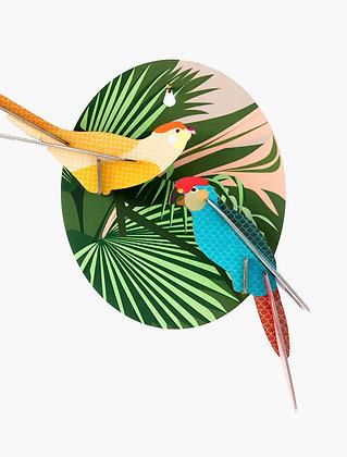 Oiseau 3D à construire - Perruches
