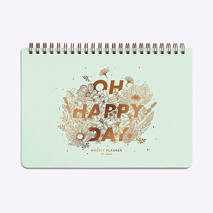 ÉDITION DU PAON - Semainier Oh happy day