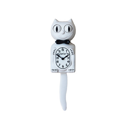 Kit-Cat Clock Blanche - Horloge Chat Blanc