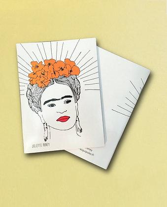 Petit carnet Frida orange