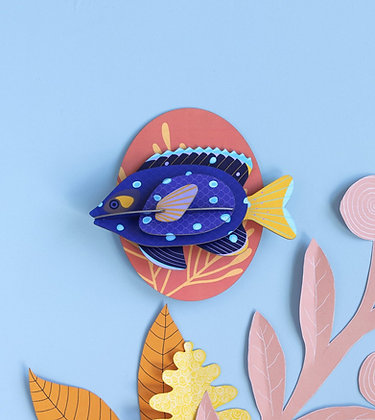 Animal 3D à construire - Grand Poisson Joyau