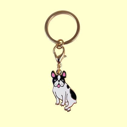 Porte clé / Médaille Bouledogue
