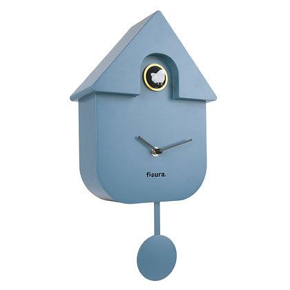 Horloge Coucou Bleue