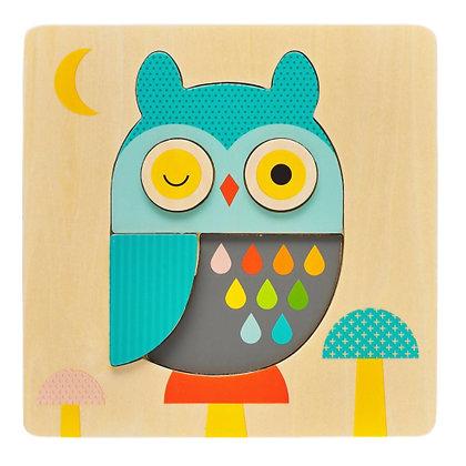 Puzzle en bois - Hibou