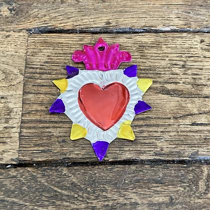 Mini Cœur ex-voto en métal #5
