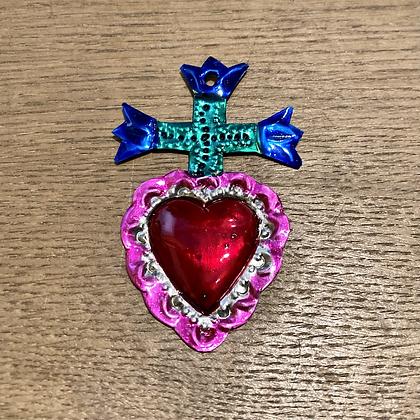 Mini Cœur ex-voto en métal #9