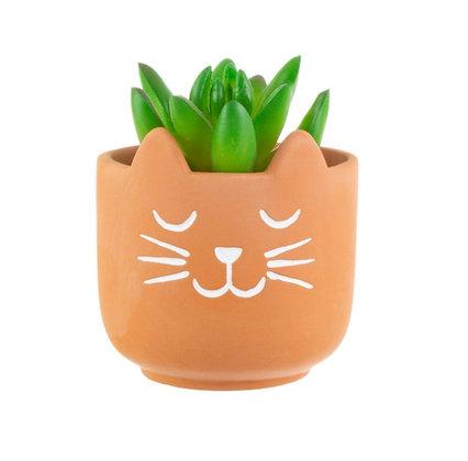 Petit porte plante Chat