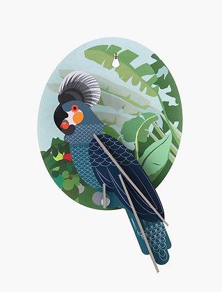 Oiseau 3D à construire - Perroquet gris