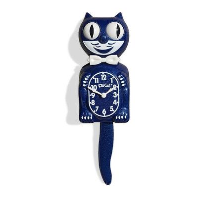 Kit-Cat Clock Bleue Galaxy - Horloge Chat Bleue