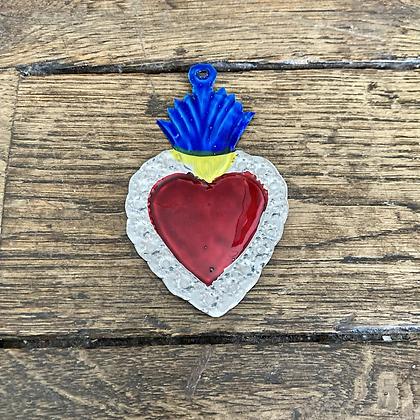 Mini Cœur ex-voto en métal #2