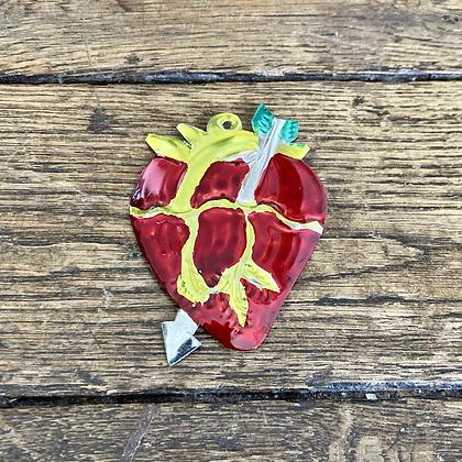 Mini Cœur ex-voto en métal #3