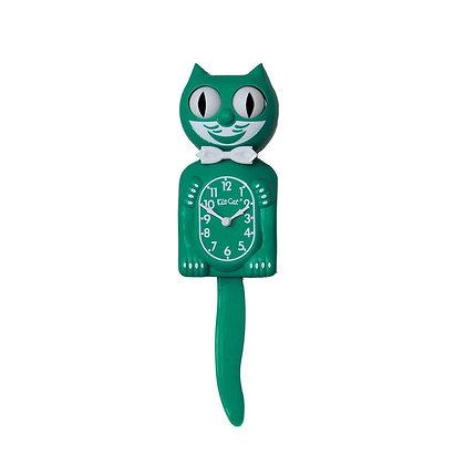 Kit-Cat Clock Vert - Horloge Chat Vert