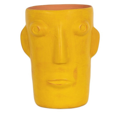 Grand vase Cabeza Jaune