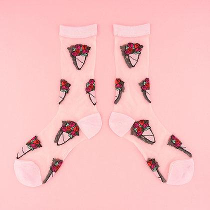 Coucou Suzette - Chaussettes Bouquet de roses