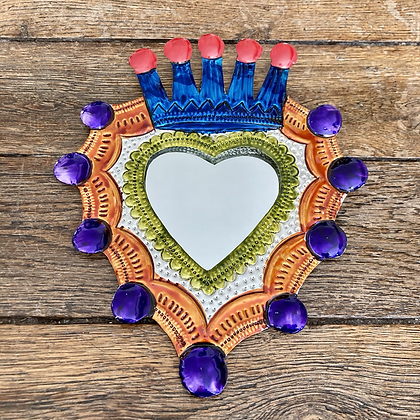 Miroir coeur ex-voto #5