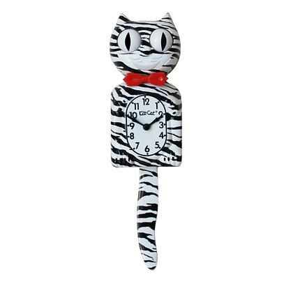 Kit-Cat Clock Zèbre - Horloge Chat Zèbre