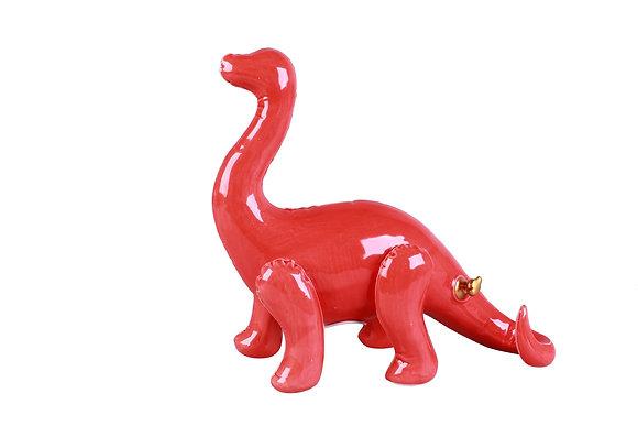 Tirelire Brachiosaure Rouge