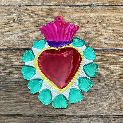 Cœur ex-voto en métal #10