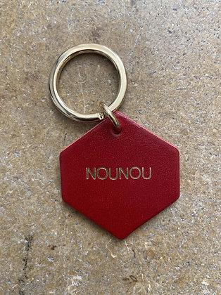 FAUVETTE - Porte-clés rouge NOUNOU