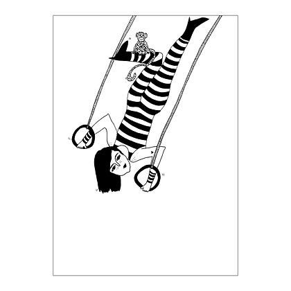 Helen B - Carte postale Femme Cirque