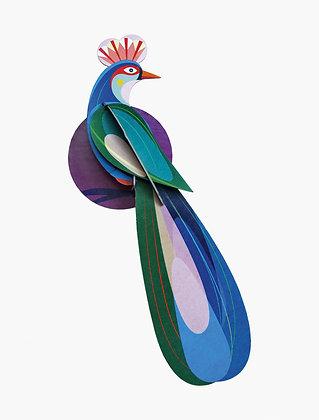 Oiseau 3D à construire - Oiseau bleu