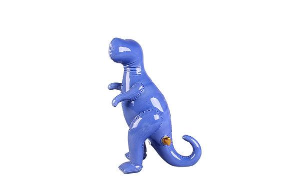 Tirelire Tyrannosaure Bleu