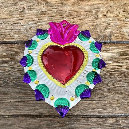 Cœur ex-voto en métal #5