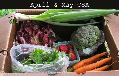 Spring Market Box CSA: April & May