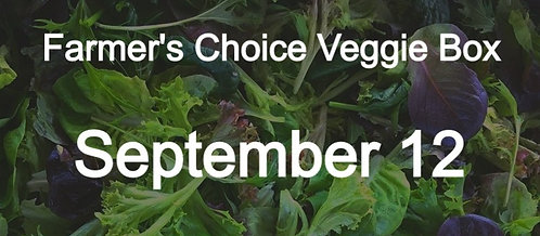 Farmer's Choice Veggie Box- September 12
