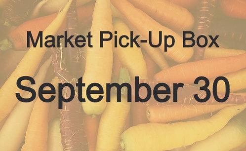 Market Pick-Up Box: September 30