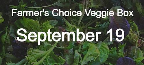 Farmer's Choice Veggie Box- September 19