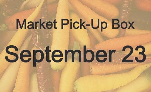 Market Pick-Up Box: September 23