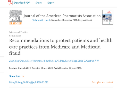 Our work on Medicare fraud is now published online