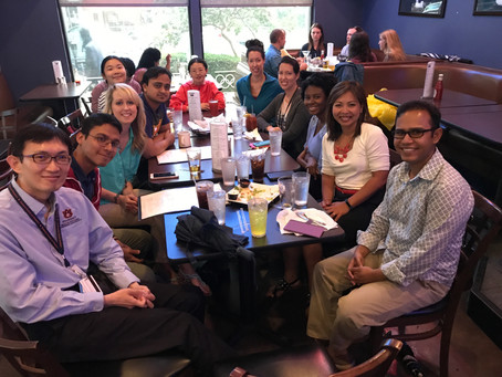 Informal gathering with doctoral students