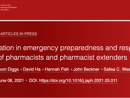 Do pharmacies participate in emergency preparedness and response activities?