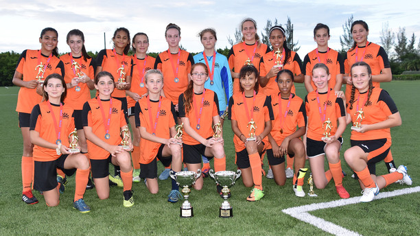 Sunset girls secure Under 15 league and cup double