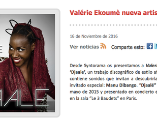 Valérie Ekoumè nouvelle artiste Syntorama