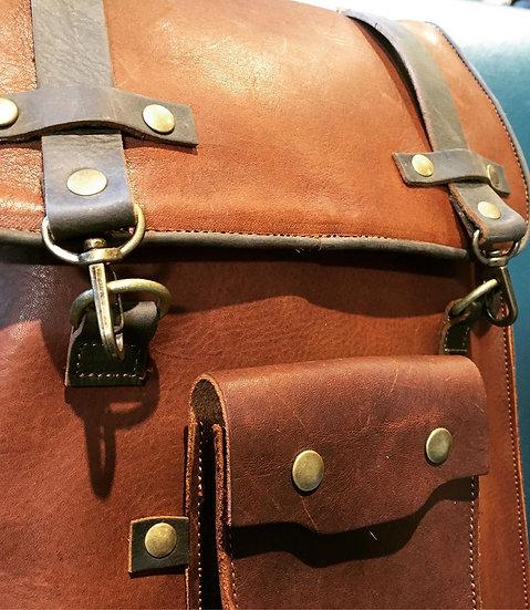 Nueva Mochila Grande de Piel/Leather Backpack