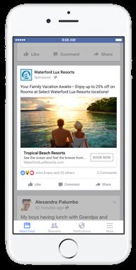 Anúncios familiares pretendem aumentar as vendas de produtos anunciados dentro do Facebook.