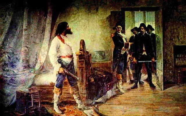 Quadro retratando a prisão de Tiradentes